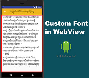 Android WebView Custom Fonts