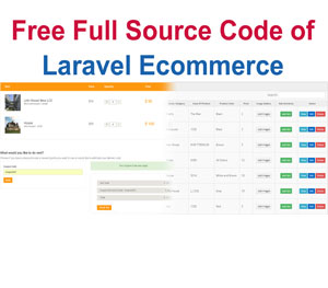 Laravel Ecommerce Full Source Code Project