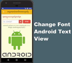 How to Change Font TextView in Android